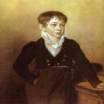 Orest Adamovich Kiprenskii (1778-1836)  Portrait of a boy, 1812  Italian pencil, chalk on paper  The Tretyakov Gallery in Moscow, Russia